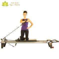 pull across pilates reformer exercise 2                              …