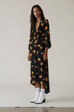 0dd07094 Fairfax Georgette Wrap Dress, Black Boho Mode, Mode Kvinder,  Arbejdsgarderobe, Mavemuskler,