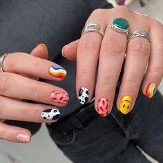 Subtle Nails, Funky Nails, Dope Nails, Swag Nails, Hippie Nails, Romantic Nails, Daisy Nails, Simple Acrylic Nails, Nail Tattoo