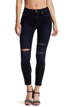 the best attitude 8042b c2601 Barbara High Waist Raw Hem Skinny Jeans Hudson Jeans, Estilo De Calle,  Cintura Alta