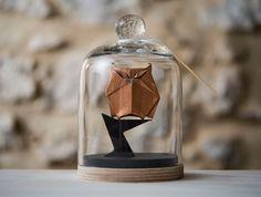 Adler, Elefant, Eule, Hirsch und andere Origami-Tierchen im Glas