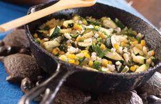 Corn & Squash Sauté (Tip: Add rice and black beans)
