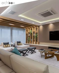 Are you looking to brighten up a dull room and searching for interior design tips? One great way to help you liven up a room is by painting and giving it a whole new look. Salas Home Theater, Home Living Room, Living Room Decor, Living Room Tv Unit Designs, Room Partition Designs, Luxury Living, Home Interior Design, Interior Architecture, Furniture Design