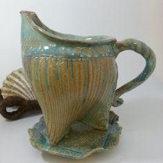 Stoneware Gravy Boat  Handmade by Spiral Tide by SpiralTidePottery, £30.00 at Etsy