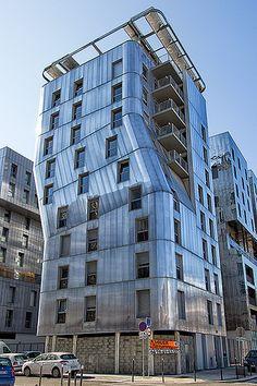 Art and Architecture Architecturia Cubic Architecture, Beautiful Architecture, Contemporary Architecture, Architecture Design, Interesting Buildings, Amazing Buildings, Modern Buildings, Ville France, Lyon France