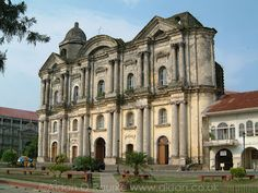 Basilica de San Martin de Tours is a Minor Basilica in the town of Taal, Batangas in the Philippines. It is considered to be the largest church in the Philippines and in Asia, standing 96 metres (315 ft) long and 45 metres (148 ft) wide. It is one of the Augustinian Churches built in the Philippines.