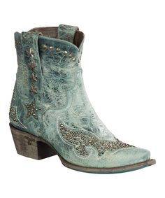 This Lane Boots Navy Starry Night Leather Cowboy Boot by Lane Boots is perfect! #zulilyfinds
