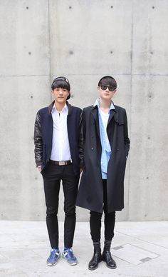 STREETSTYLE | Seoul Fashion Week FW14! - Fucking Young! That one on the left doe....