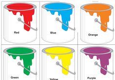 Paint can activity freebie - match up paint brushes with paint cans.  Pretend to paint.