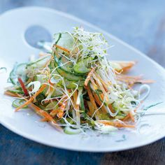 Recette salade de concombre à l'asiatique - Cuisine / Madame Figaro