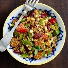 Cajun Bulgur Salad: a healthy 15-minute meal that will satisfy anyone in your family!