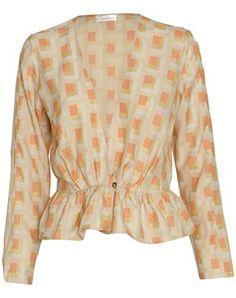 Stine Goya  Wish geometrisk printet jakke med flæser  DKK 1,900.00