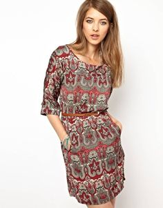 Pepe Jeans London Paisley Belted Dress