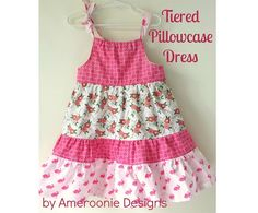 Sewing For Kids Tiered Pillowcase Dress Tutorial - A free sewing tutorial for a tiered pillowcase dress. Cute sewing pattern for a little girls dress. Learn how to make a Tiered Pillowcase Dress. Baby Sewing Projects, Sewing For Kids, Little Girl Dresses, Girls Dresses, Pageant Dresses, Easy Girls Dress, Little Girl Dress Patterns, Easy Dress, Baby Dresses