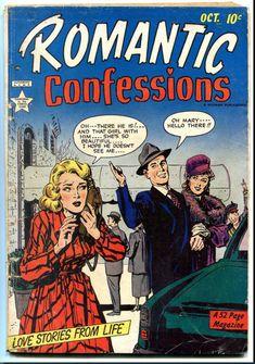 Romantic Confessions Vol. True Romance, She Girl, Drama Queens, Comics Girls, Pulp Art, American Comics, Vintage Comics, Comic Covers, Book Publishing