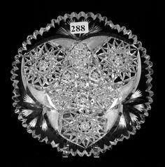 "Tuthill, ______, American brilliant cut glass, 7"", 15- -."