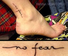 No fear..tattoo placement