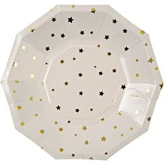 Meri Meri Toot Sweet Gold Stars Small Party Plate