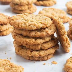 These golden brown ranger cookies are crispy on the outside and cake-like on the inside. Their tasty blend of oats, rice cereal, coconut and brown sugar have made them one of our favorite cookie recipes. You won't be able to eat just one. —Mary Lou Boyce,Wilmington, Delaware Ranger Cookie Recipe, Ranger Cookies, Cereal Recipes, Cookie Recipes, Dessert Recipes, Dessert Bars, Pasta Recipes, Chicken Recipes, Favorite Cookie Recipe