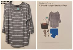 Stitch Fix Review: Market & Spruce Corinna Striped Dolman Top Status:kept Stitch Fix Review: at first I was a little confused about the sweater. I was afraid of it at first because I don't like to wear anything that looks boyish but this sweater has slowly grown on me and I love it!