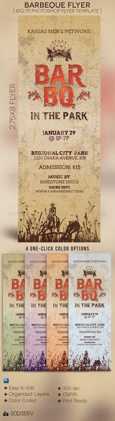 BarBeQue Flyer Template - $6.00