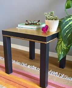 The Lack side table is under $10 at IKEA; use this fun collection of 20+ IKEA hacks to turn it the home decor piece you really want.