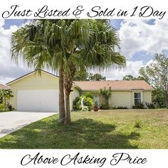 Just listed & sold this home in Port St Lucie in 1 day with multiple offers over asking price! www.pslwesthome.com