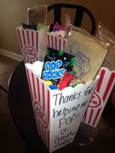labor and delivery nurse gift. things that pop inside, pop rocks, popcorn, gum, etc Labor Nurse Gift, Delivery Nurse Gifts, Midwife Gift, Hospital Gifts, Hospital Bag, Nurse Appreciation Gifts, Getting Ready For Baby, Doctor Gifts, Homemade Gifts
