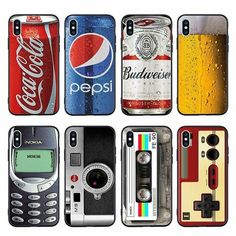 Pepsi, Coca Cola, Iphone 10, Iphone Cases, Clear Silicone, Beer, Free Shipping, Shopping, Selling Online