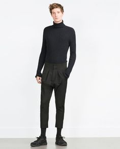 ZARA - MAN - TROUSERS WITH SIDE EDGING DETAIL