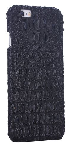 Amazon.com: iCASEIT Genuine Leather iPhone Case - Genuine, Unique & Premium for iPhone 6 - Crocodile Head Pattern - MELANITE: Electronics