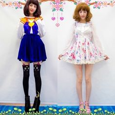 Kinda miss the right f loraldress(sold out).. should we make the similar ones this summer?  the sailor v jumper and the luna tights you can find in the store, link on bio  model by the cute @beckiicruel  #floraldress #sailorvjumper #sailorV #sailormoontights #spreepicky