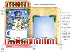 Clipart - Anne Lisbeth Stavland - Álbuns da web do Picasa Christmas Scenes, Christmas Paper, Christmas Images, Kids Christmas, Christmas Crafts, Merry Christmas, Snowman Soup, Snowman Party, Diy Gift Box