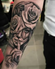 """""""Lamper Edgar > Tattoo roses and Chicano girl Tattoo Girls, Skull Girl Tattoo, Girl Face Tattoo, Clown Tattoo, Skull Tattoos, Body Art Tattoos, Girl Tattoos, Tattoos For Guys, Hand Tattoos"""