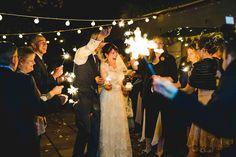 Sparklers Bride Groom Rustic Autumnal Apples Country Wedding http://jareklepak.com/