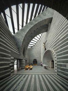 Mario Botta chapel, Mogno, Switzerland