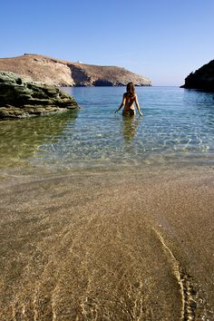 Swimming in Achla beach ~ Andros Greece Andros Greece, Santorini Greece, Beautiful Islands, Beautiful Beaches, Places To See, Places To Travel, Greek Sea, Greece Islands, Greece Travel