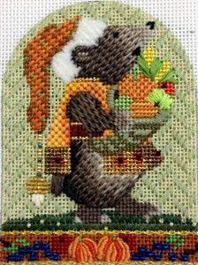 Melissa Shirley needlepoint Thanksgiving animal