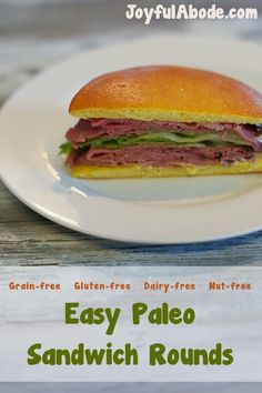 """You'll never see me turning down big salads, but Paleo Sandwich Rounds give me the convenience of a sandwich & the health benefits of staying """"clean."""""""