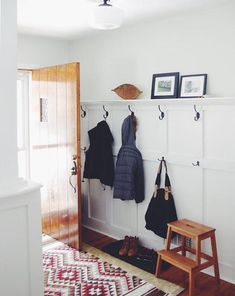 Surprising Useful Ideas: High Wainscoting Chairs wainscoting staircase paint.Wainscoting Office Benjamin Moore wainscoting staircase entry ways. Wainscoting Kitchen, Painted Wainscoting, Wainscoting Styles, Wainscoting Height, Black Wainscoting, Wainscoting Nursery, Wainscoting Hallway, Wainscoting Panels, Front Hallway