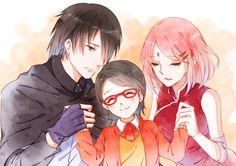 Pixiv Id 464153, NARUTO, Uchiha Sasuke, Haruno Sakura, Uchiha Sarada, Uchiha Clan