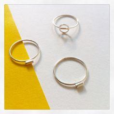 Mini Rings Collection   www.etsy.com/shop/NinaNanasShop