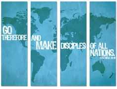 Go Therefore and Make Disciples of All Nations Banner www.churchbanners.com