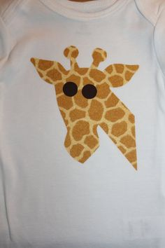 Cute giraffe applique
