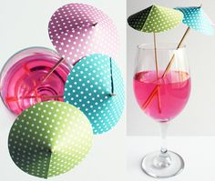 WATCH for these at our next fun function...I am soooo going to be making these DIY cocktail umbrellas ~ Really How CUTE?