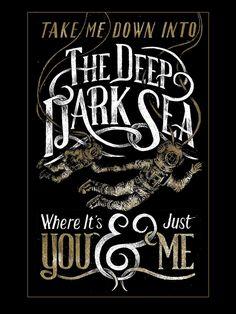 The Deep Dark Sea #lettering