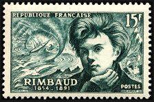 Arthur Rimbaud 1854-1891 Poésie moderne - Timbre de 1951