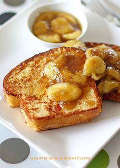 Almost Bourdain: Brioche French Toast with Maple-Banana Sauce
