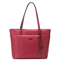 ECOSUSI Womens Handbags PU Leather Tote Shoulder Bag with Key Chains Red Wine *** Details can be found by clicking on the image. (This is an affiliate link and I receive a commission for the sales) Handbags On Sale, Coach Handbags, Tote Handbags, Leather Handbags, Tote Bags, Crossbody Bags, Women's Bags, Gland, Fashion Handbags