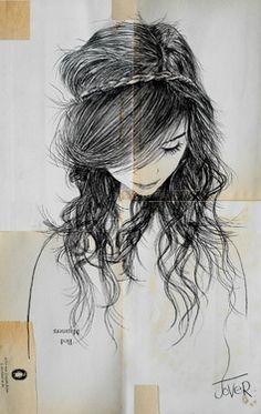 "Saatchi Online Artist Loui Jover; Drawing, ""august"" #art"